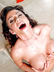 Crazy hot milf with big boobs Ariella Ferrera fucked hardcore near the piano