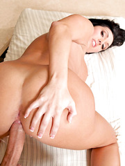Experienced mommy with perfect-shaped big tits Dylan Ryder rides and titjobs