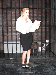 Delicious first-class whore with big tits Krissy Lynn was invited to make happy prisoners