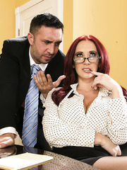 Marvellous redhead milf with delicious forms Jayden Jaymes makes her co-worker really wild