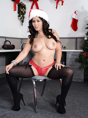 Asian minx with big tits Jessica Bangkok presents us her sweet body at the Christmas