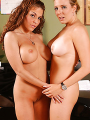 Two naughty milfs with succulent big tits Kara Nox and Victoria Valentina