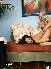 Crazy brunette girlfriend Priya Anjali Rai gets a very sexy cunnilingus