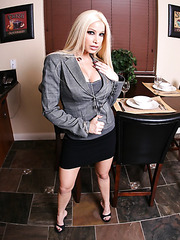 Sweet blonde angel Gina Lynn masturbates with the naughty fingers
