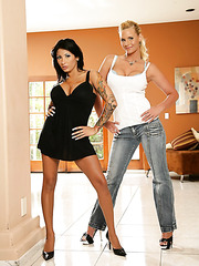 Crazy lesbian scene with naughty chicks named Phoenix Marie and Ricki Raxxx