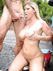 Crazy and hot outdoor fuck with a passionate blonde Devon Lee