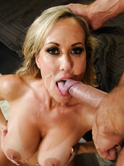 Wild whore Brandi Love tasting a delicious wiener and getting penetrated