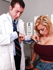 Blonde cougar Shyla Stylez came to a doctor to get her asshole stretched before hot party