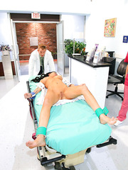 Anal penetration for model-quality brunette doctor with big boobs named Brandy Aniston