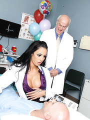Hardcore fucking action for gorgeous doctor with amazing big boobs Angelina Valentine