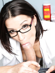 Busty milf Ann Marie Rios came to check out her patients health and the power of erection