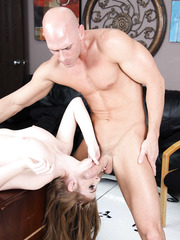 Fair skinned and busty model Faye Reagan came at the psychotherapist with big cock