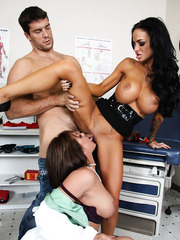 Two super hot milfs with big tits Angelina Valentine and Tory Lane in the threesome action