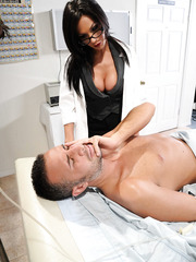 Great doctor milf Kirsten Price uses her tight and shaved pussy after hot blowjob