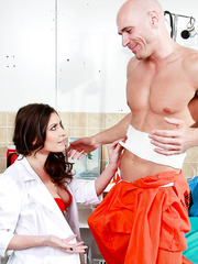 Nurse Victoria Lawson knows that only one way is really pleasant for that big cock