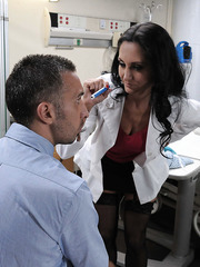 Doc Ava Addams uses patient's big cock to make her ass friendlier