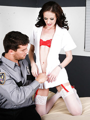 Anal penetration and facial for milf doctor Hailey Young by hot policeman