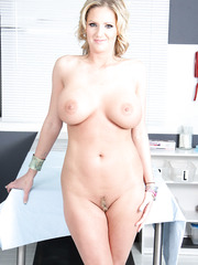 Milf with huge tits, delicious nipples and trimmed pussy - Zoey Holiday