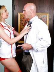 Nymphomaniacal milf Molly Bennett is a hot nurse that enjoys hardcore actions with a doctor