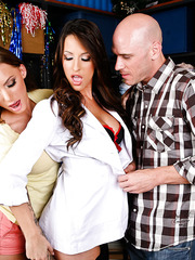 The hottest nurses ever Juelz Ventura and Kortney Kane fucked by lucky bald man