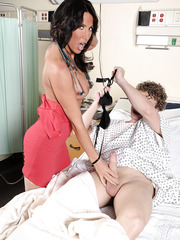 Super hot doctor Lezley Zen was dreaming about volcanic orgasm and she got it with a patient