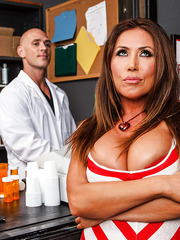 Excellent bombshell with huge breast and appetizing ass Kianna Dior got doctor's big cock