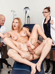 Busty milf Krissy Lynn gets fucked anally by other patient right in the hospital