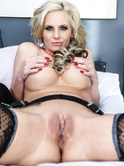 Unforgettable big tits and flawless shaved pussy in the action by hot blonde doctor Phoenix Marie