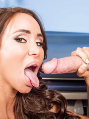 Beautiful and busty milf Sandee Westgate gives the best blowjob