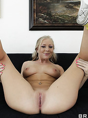 Beautiful and cute blonde angel Britney Brooks gives an amazing blowjob