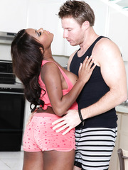 Awesome and hot interracial fuck with ebony babe named Candice Nicole