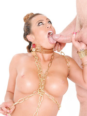 Sexy and playful milf with big tits Mariah Madysinn gets oiled and pounded hot