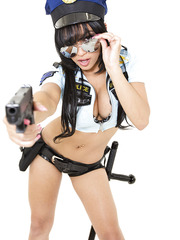 Hottest cop ever with big tits Abella Anderson shows her favorite style of uniform