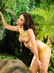 Wild fucking action in the tropical forest with hot milf Chanel Preston and her lover
