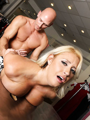 Awesome milf with dream tits Chantelle Skye fucks in the dressing room