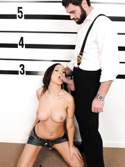 Amazing brunette babe with hot big tits Amy Ried is not against of great fuck in the office