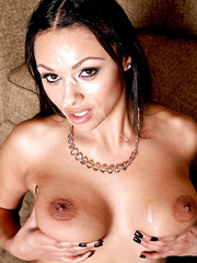 Great milf Bethany Benz seduces her sister's boyfriend with her hot big titsand sweet shaved pussy