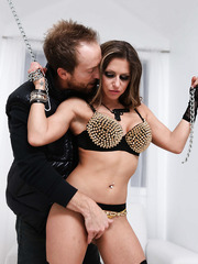 Slutty and horny Rachel RoXXX starts this hardcore scene with blowjob and gets fucked hot