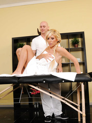 Superb and busty milf Tasha Reign got a hardcore relaxation with big dicked masseur