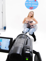 Kagney Linn Karter came to show her big tits at casting but decided to demonstrate her fucking skills