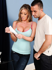 Busty and hot mommy Samantha Saint looks amazing being fucked in every position