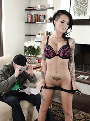 Beautiful and horny brunette girl Christy Mack gets a big cock in the pussy