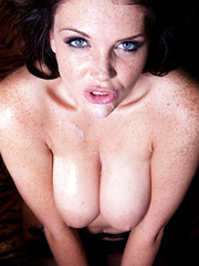 Emma Leigh is wild brunette cougar and today she gets her hot face facialized