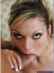 Beautiful blonde milf Ana Nova gets a sperm on the sweet lips