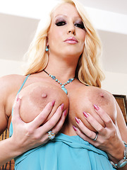 Divine bombshell Alura Jenson adores showing big boobs and fingering