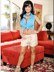 Delicate housewife Lisa Ann doing naughty things without clothes