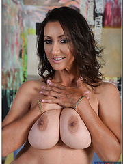 Flawless housewife Persia Monir posing in panties and fingering all the time