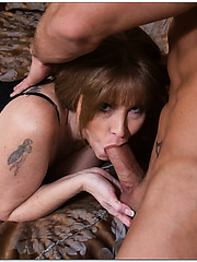 Chubby wanton Darla Crane loves fucking with sexy guys and taste their rods