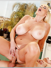 Prepossessing milf Brittany O'Neil gets ready to be fucked by her new friend