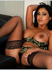 Fascinating curve Priya Anjali Rai showing big tits and getting dirty on bed